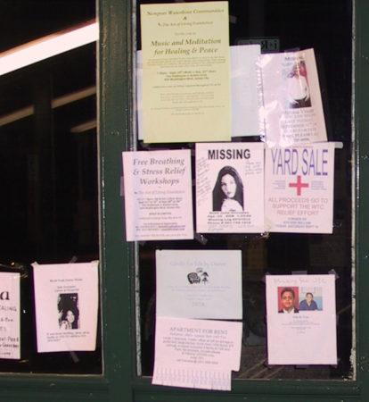 Charles Kramer- Hoboken PATH Entrance, Missing People Posters (2), September 23, 2001