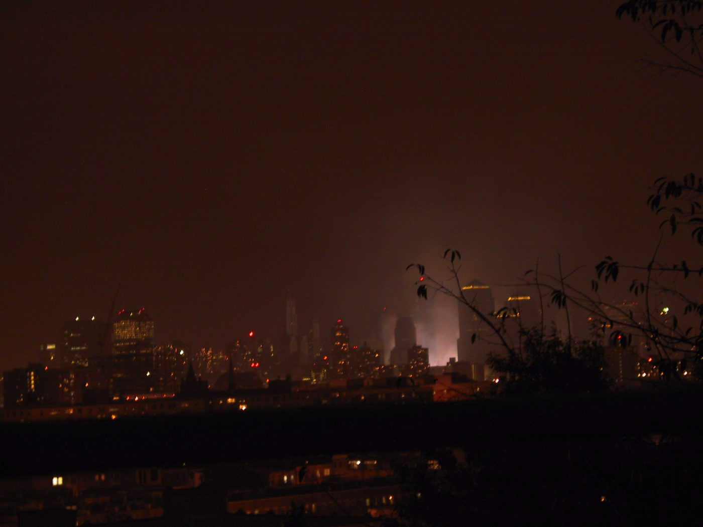 Charles Kramer- View From Hoboken, Fires Still Burning, September 23, 2001