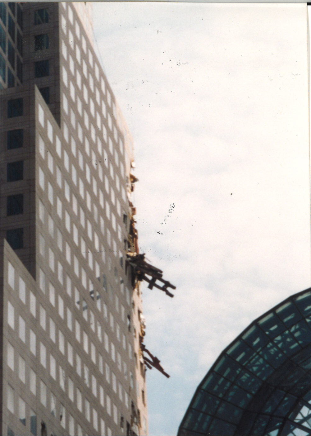 200 Vesey with embedded pieces of the WTC