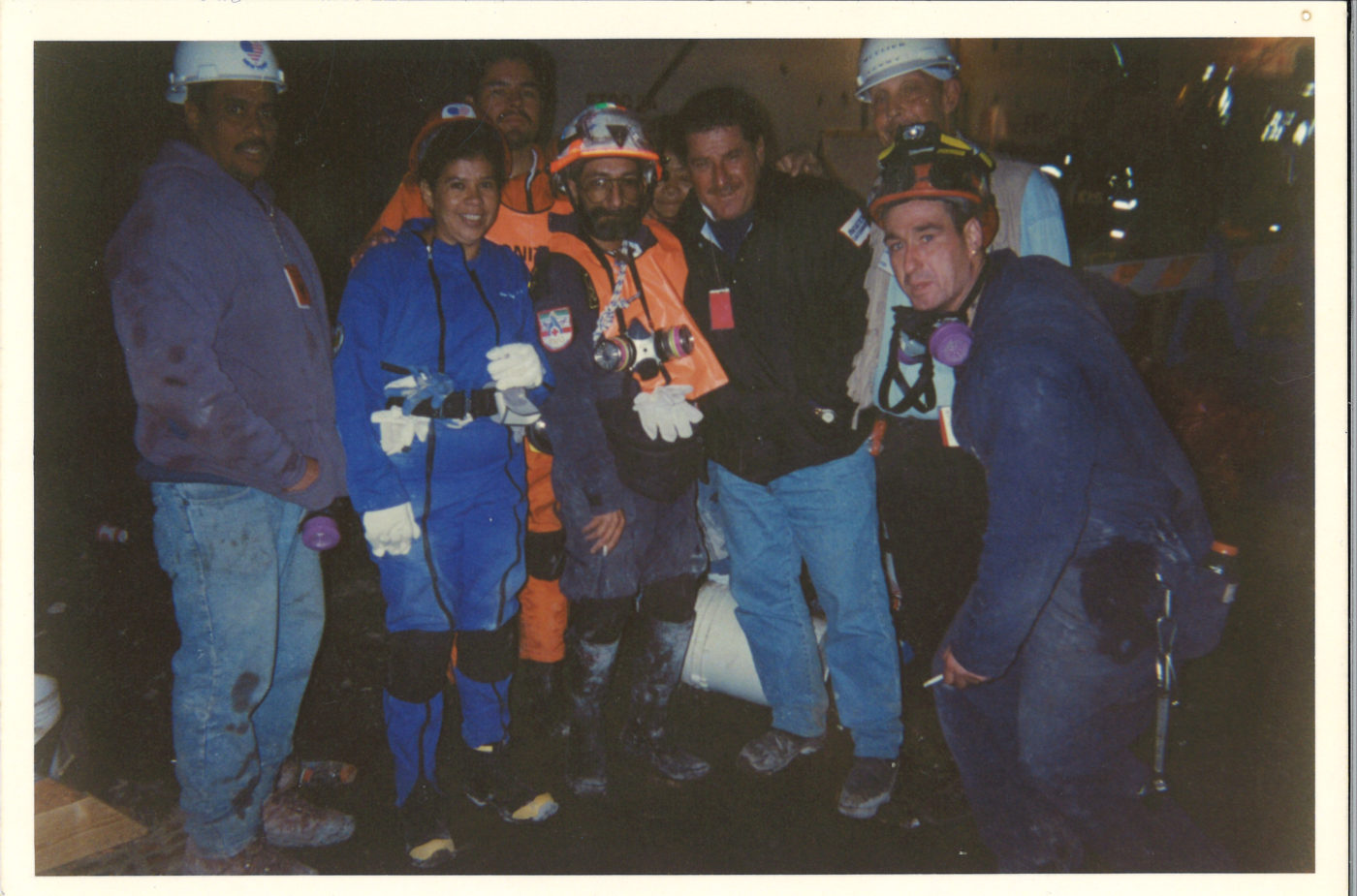 Cleanup Crew at Ground Zero- Sonny Deluccy in white hat on right