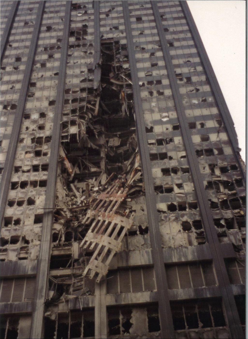 Damage to Deutsche Bank Building