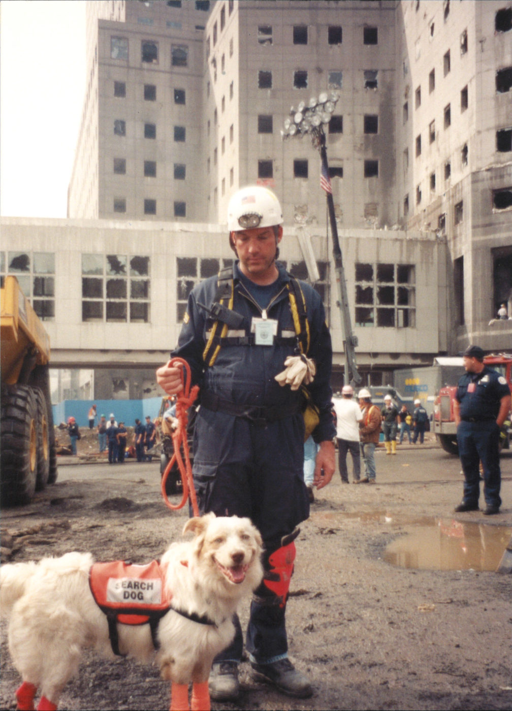 Handler and Rescue Dog at Ground Zero (2)