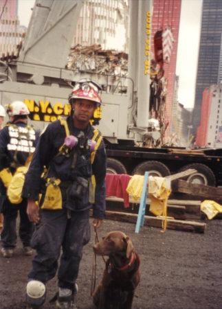 Handler and Rescue Dog at Ground Zero