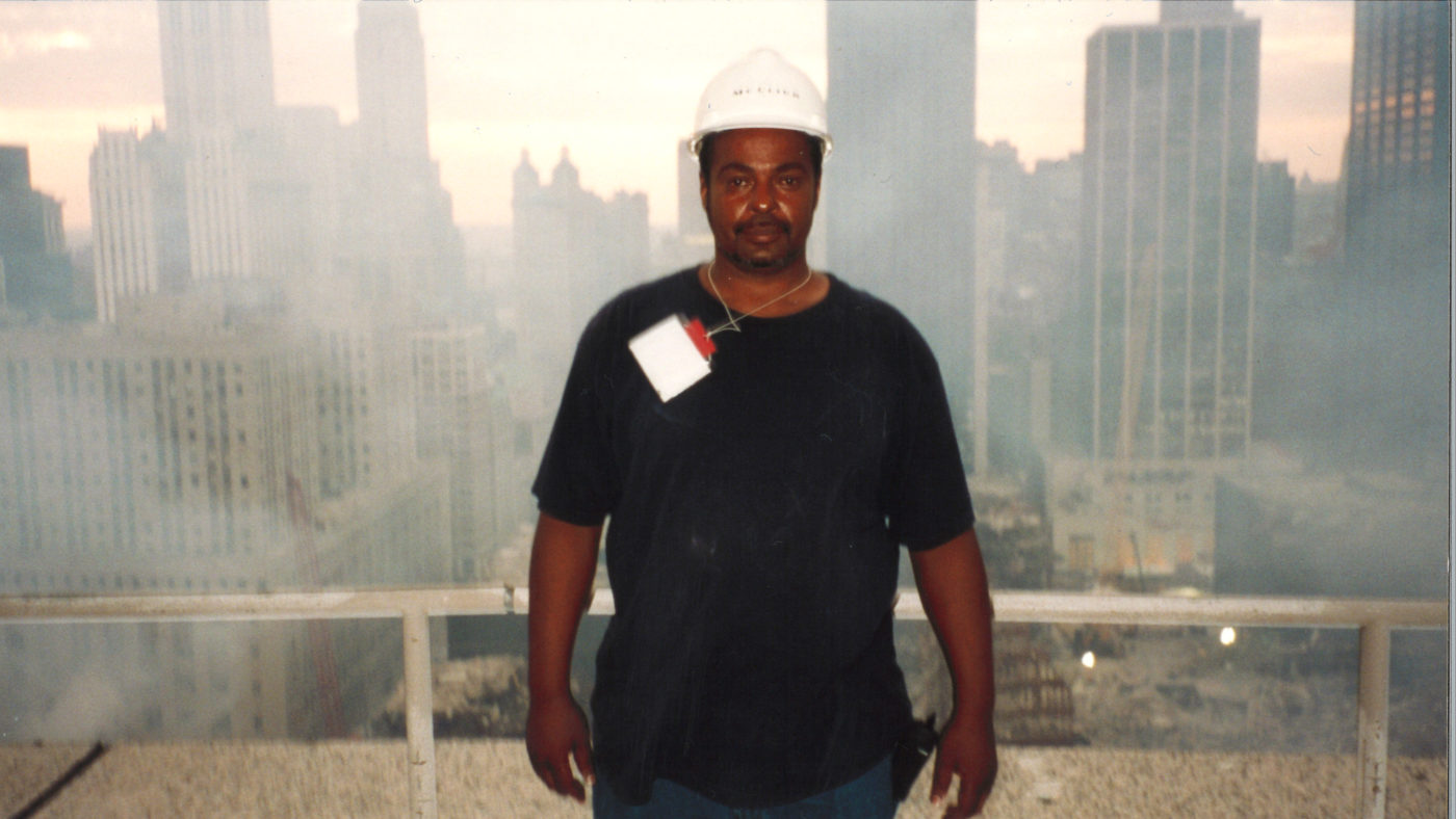 Unknown worker at Ground Zero from 200 Vesey Street