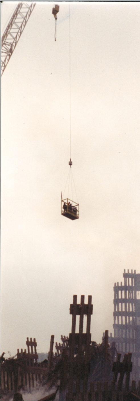 Workers above Ground Zero