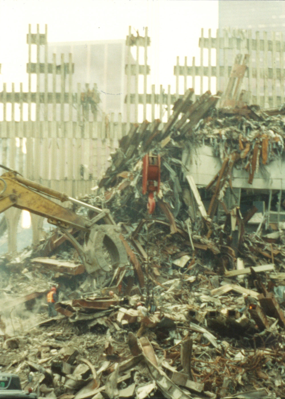 A Digger Moving Through Rubble at Ground Zero