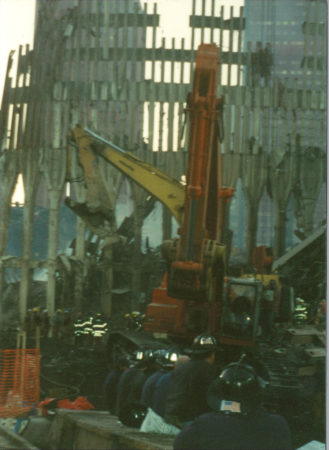 Workers and Diggers Removing Debris at Ground Zero
