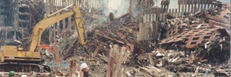 Digger Moving Debris at Ground Zero