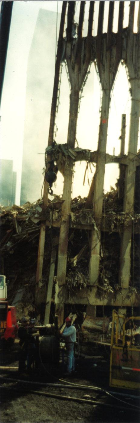 Closeup of Destroyed Exoskeleton at Ground Zero