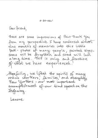 Description Letter of Point Thank You
