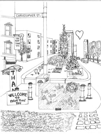 Point Thank You Drawing at Christopher Street