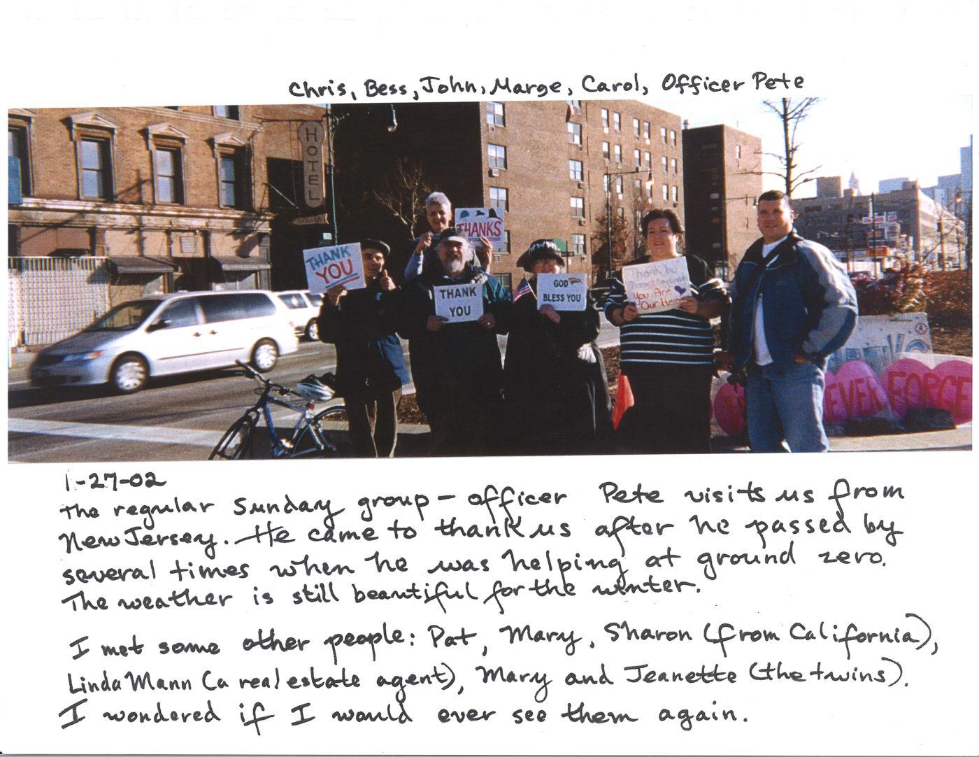 PTY Regular Crew- Chris, Bess, Carol, Marge, John, and officer Peter