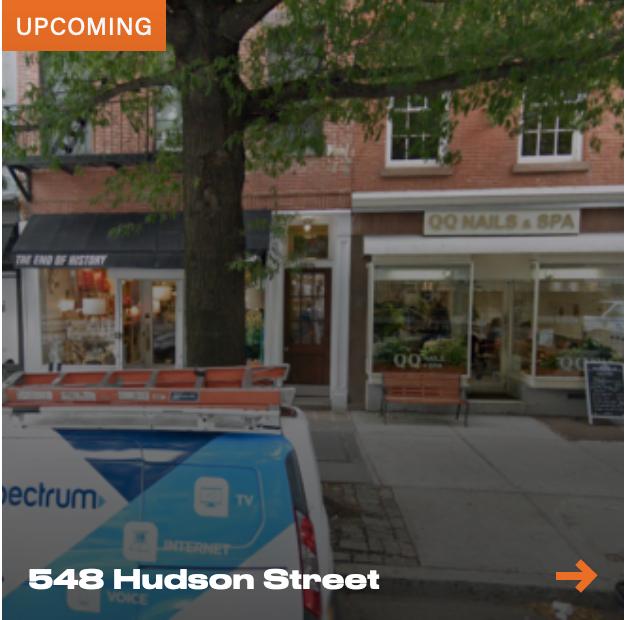 548 Hudson Street - New LPC Application - Screen Shot