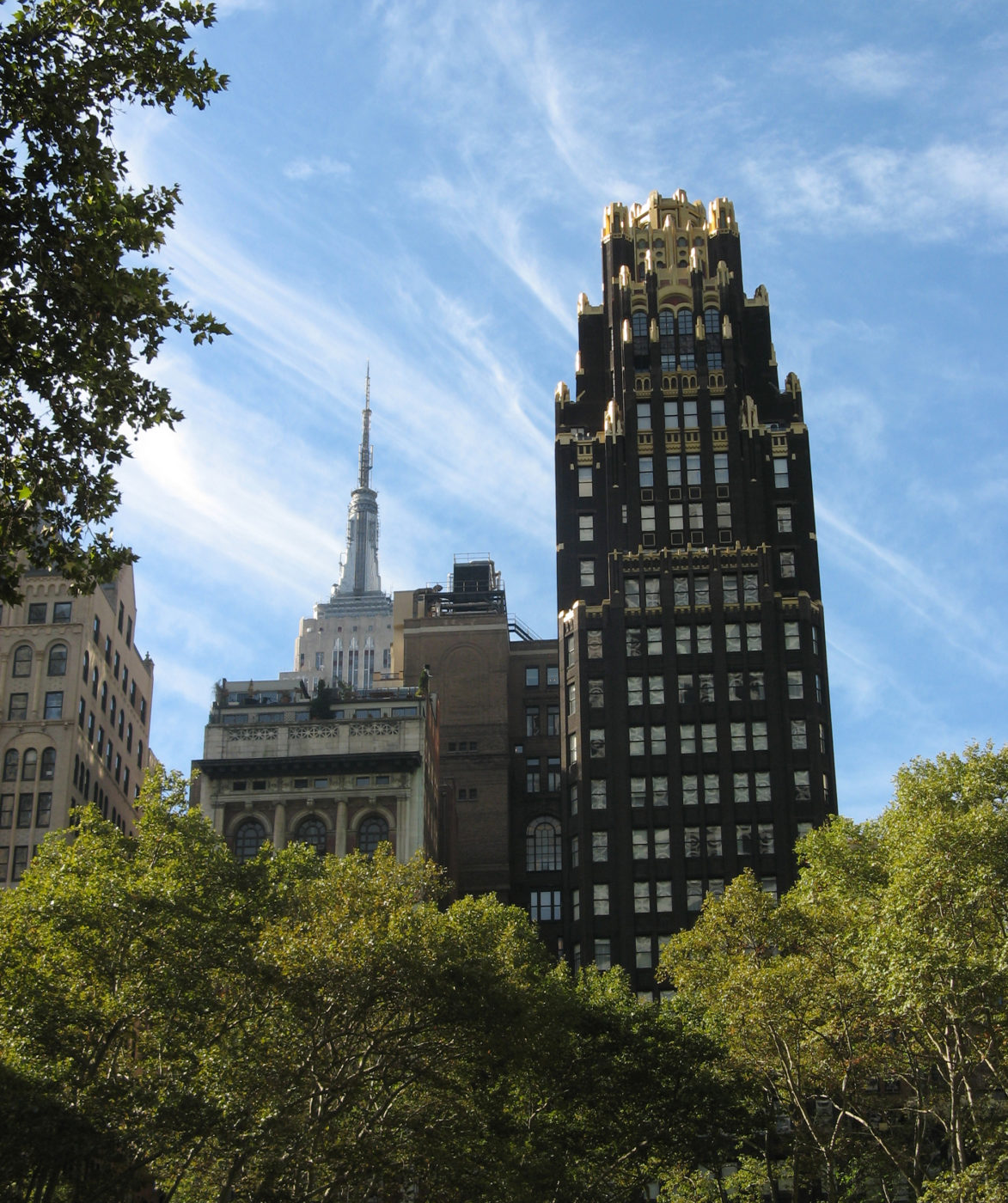 American Radiator Building in the front, Empire State Building in the back