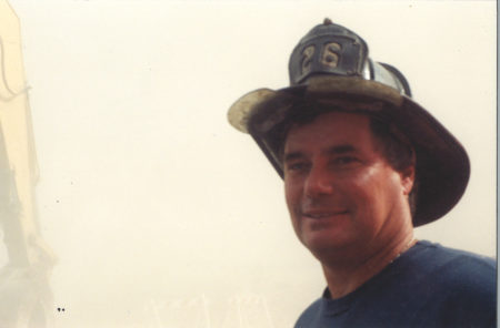 Closeup of an Unknown Fire Fighter from Engine 26