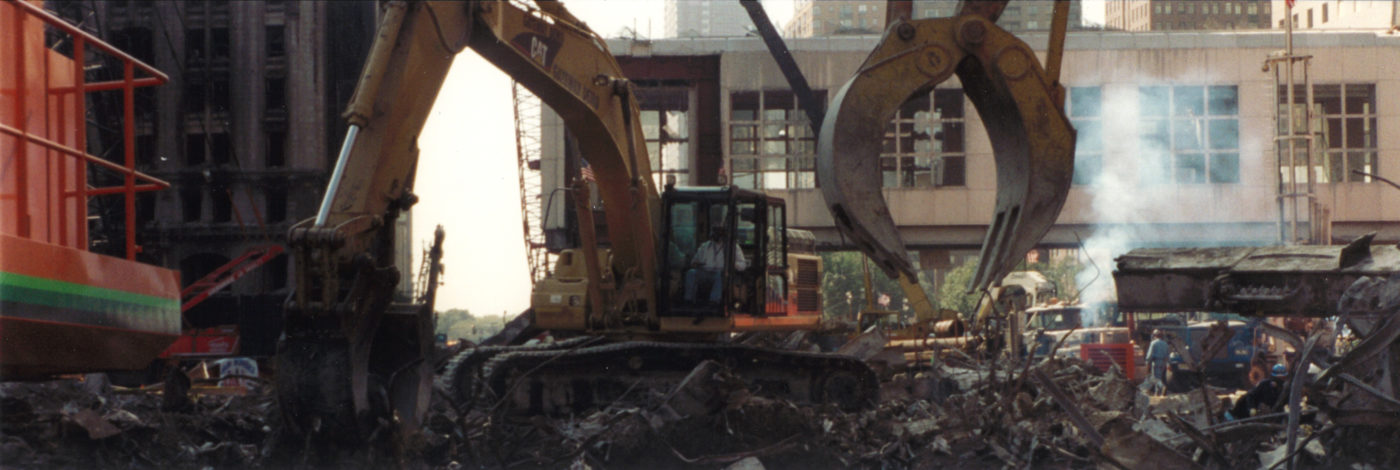 Closeup of Diggers Cleaning Debris at Ground Zero