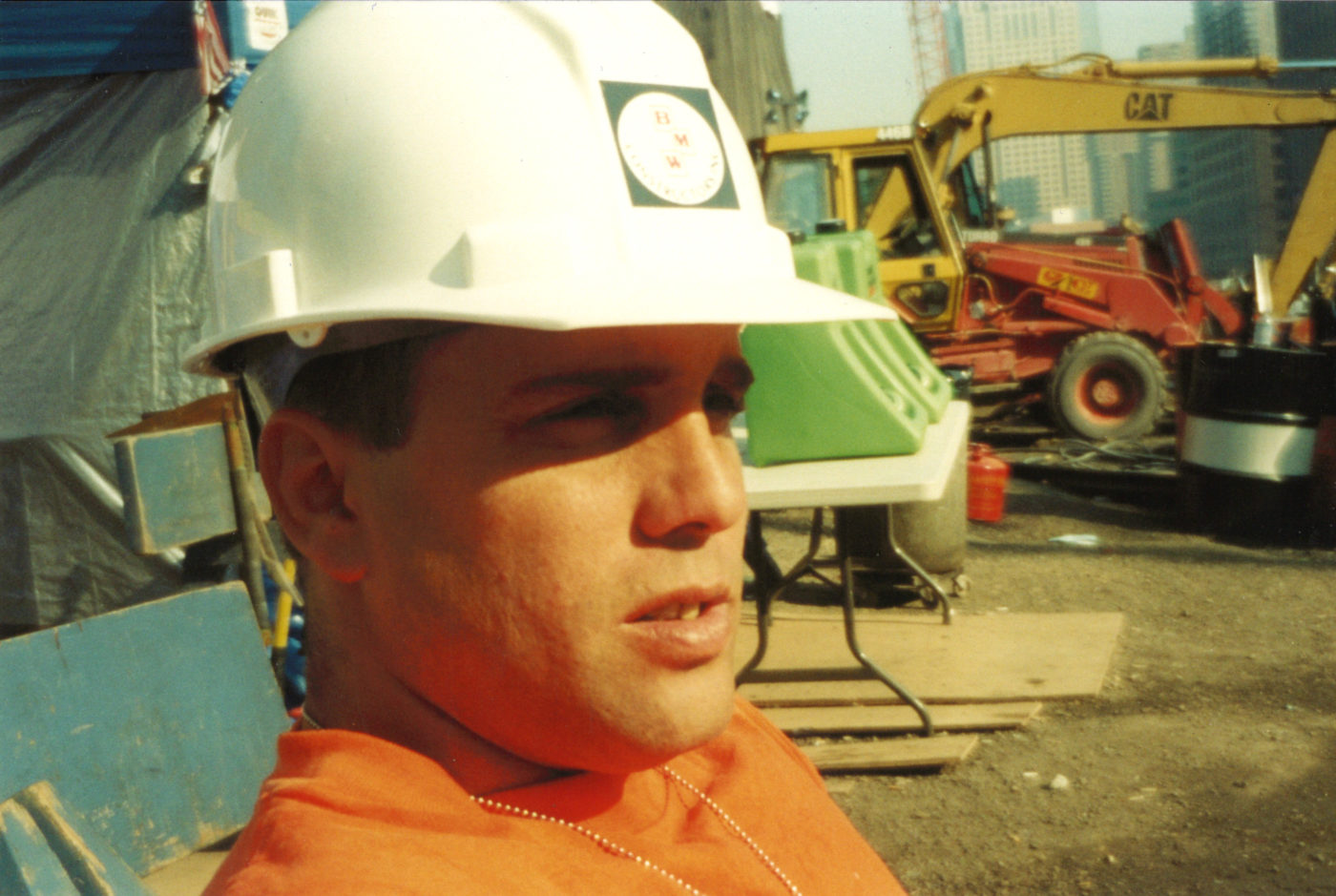 Closeup of the Sun Shining on an Unknown Workers Face at Ground Zero