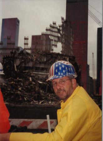 Closeup of Unknown Worker at Ground Zero