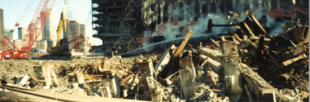 Closeup Shot of Debris at Ground Zero