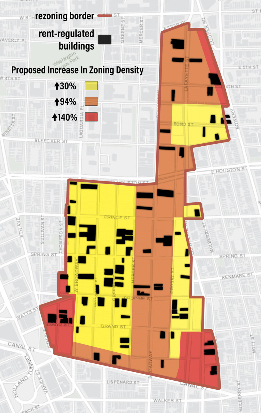 Map from SoHo NoHo report: Mapping the Incentive to Demolish