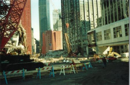 Crane Working on Destroyed Deutsche Bank Building