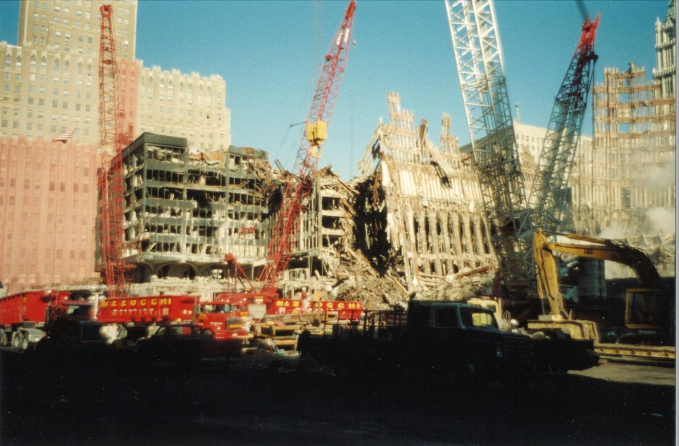 Cranes Working on Destroyed WTC5