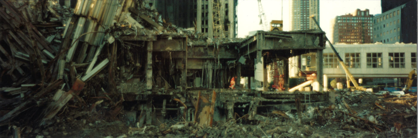 Destroyed Frame of the WTC at Ground Zero