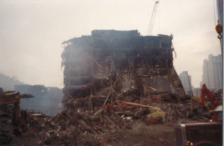 Destroyed WTC 5 looking north