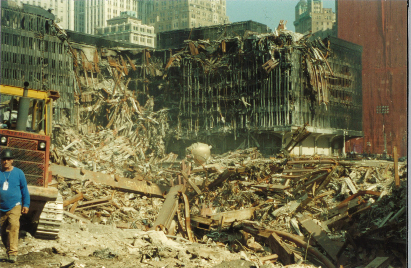 Destroyed WTC 5 with Debris and Rubble