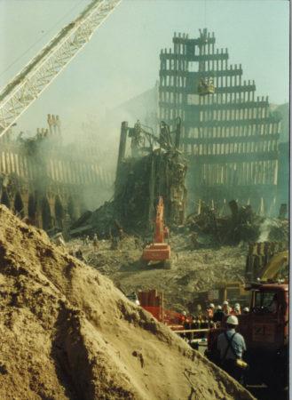 Excavated Ground surrounding WTC Exoskeleton