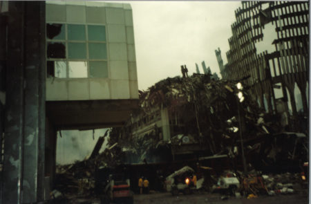 Falling Debris and Exoskeleton at Ground Zero