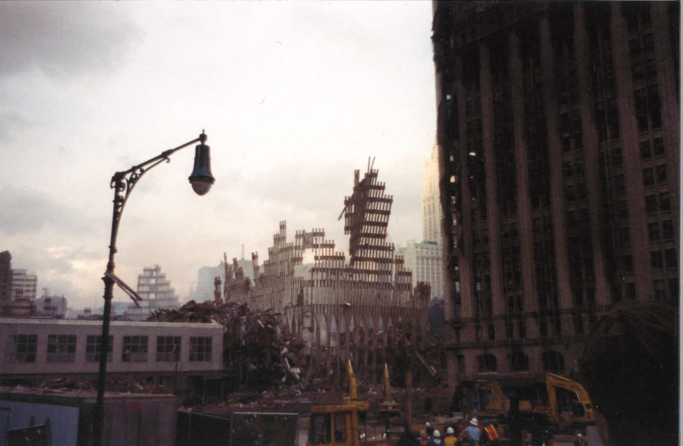 Falling Exoskeleton Visible from West Street