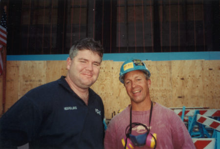 FDNY Firefighter Mulholland and an Unknown Worker at Ground Zero