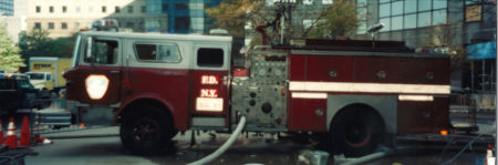 FDNY Truck and Hose Connected to Water at Ground zero