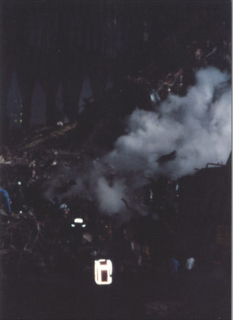 Lingering fire at Ground Zero