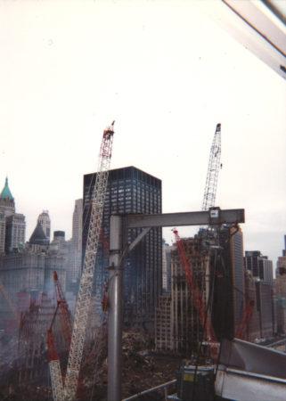 Looking southwest towards Deutsche Bank building from 200 Vesey Street