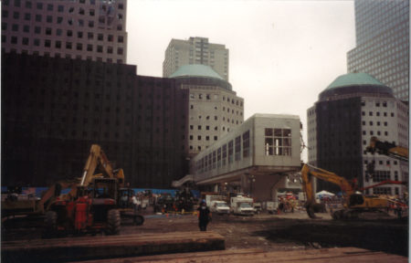 Looking West towards Brookfield Place across West Street from Ground Zero