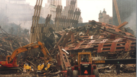 Men Working in Fallen Steel from the WTC