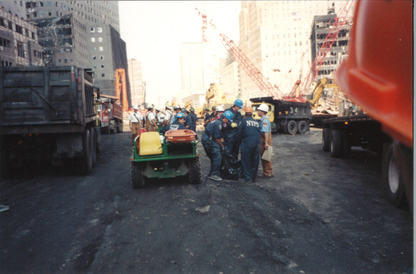 NYPD Crime Unit Working at Ground Zero