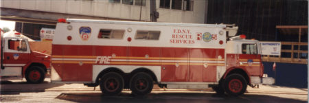Photo of the FDNY Rescue Services Truck at Ground Zero