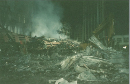 Smoking Debris and Rubble from the WTC