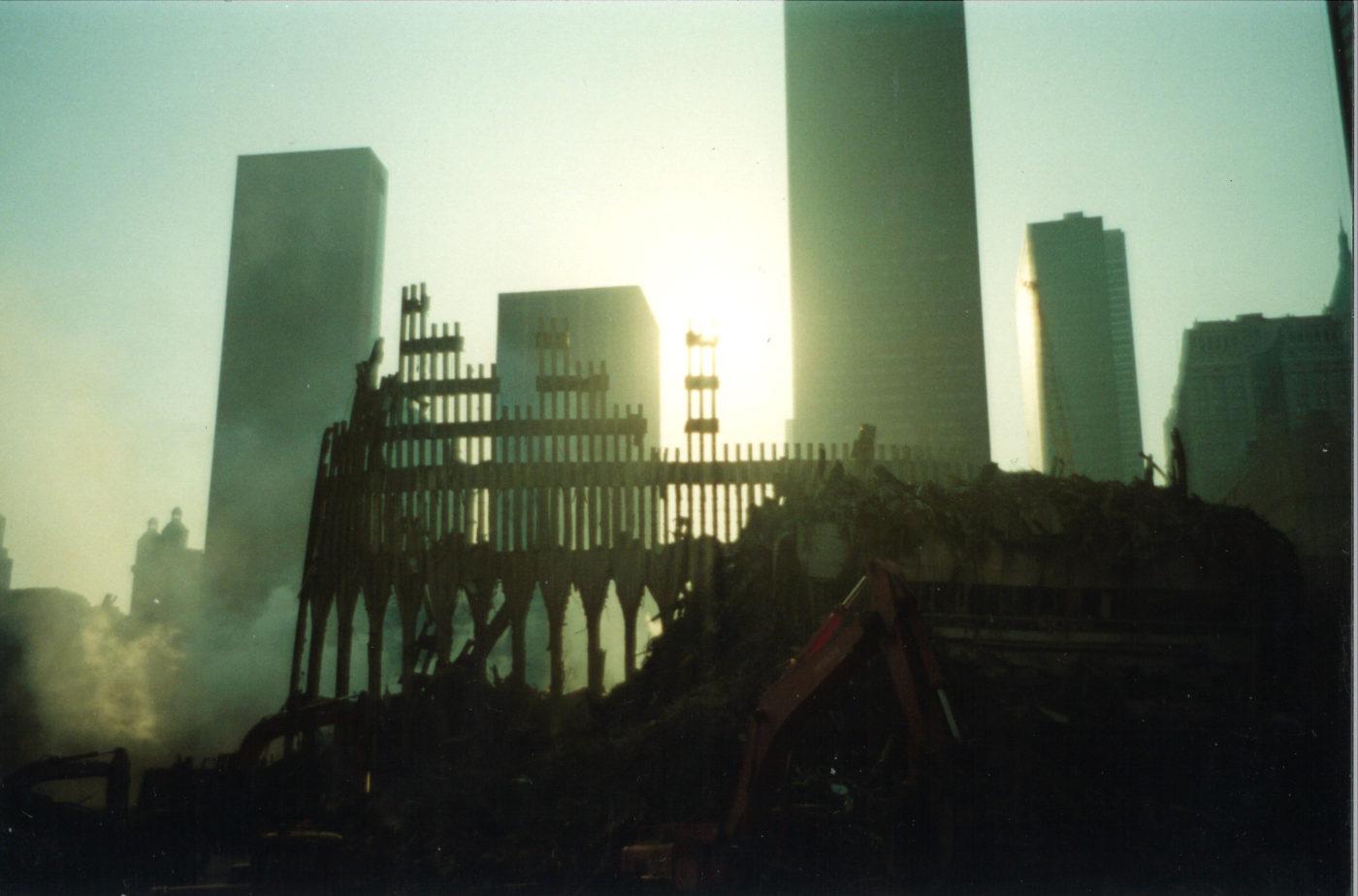 Sun Through the Destroyed Exoskeleton of the WTC