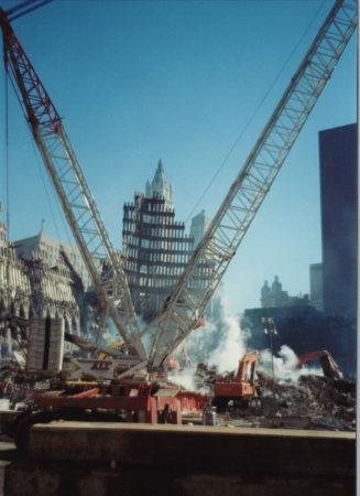 Two Cranes working at Ground Zero