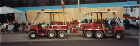 Two FDNY Carts at Ground Zero
