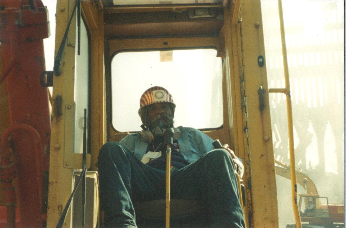 Uknown Worker in a Crane Cab at Ground Zero