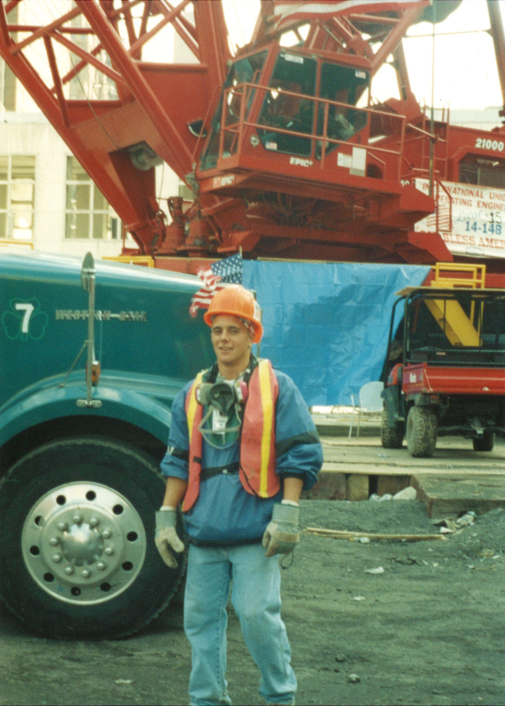Unknown construction worker on site