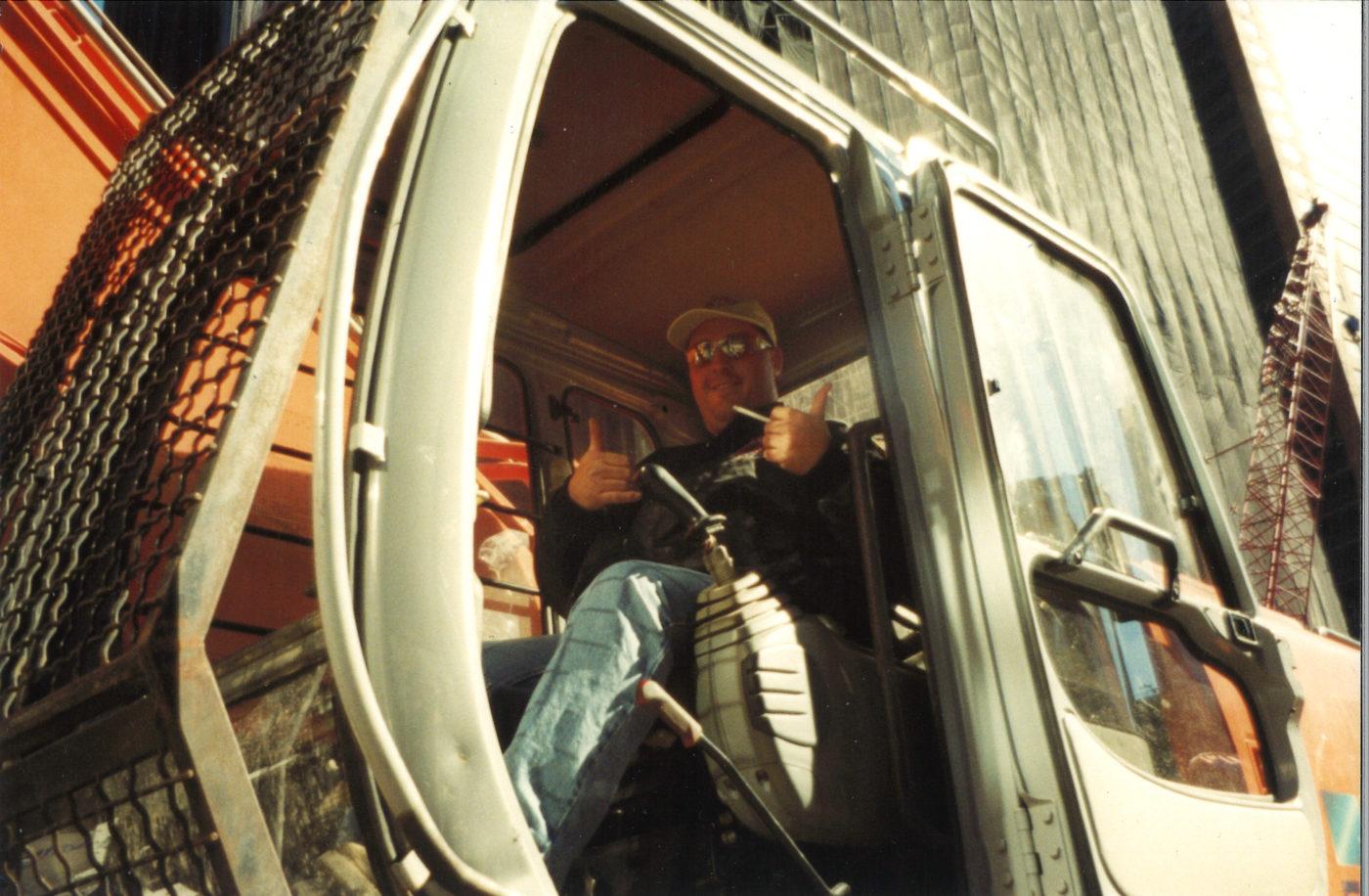 Unknown worker at Ground Zero in cab