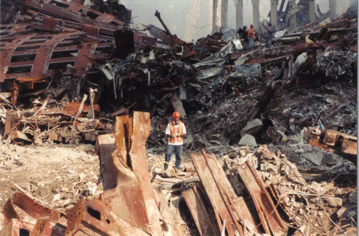 Unknown Worker Standing in Debis at Ground Zero