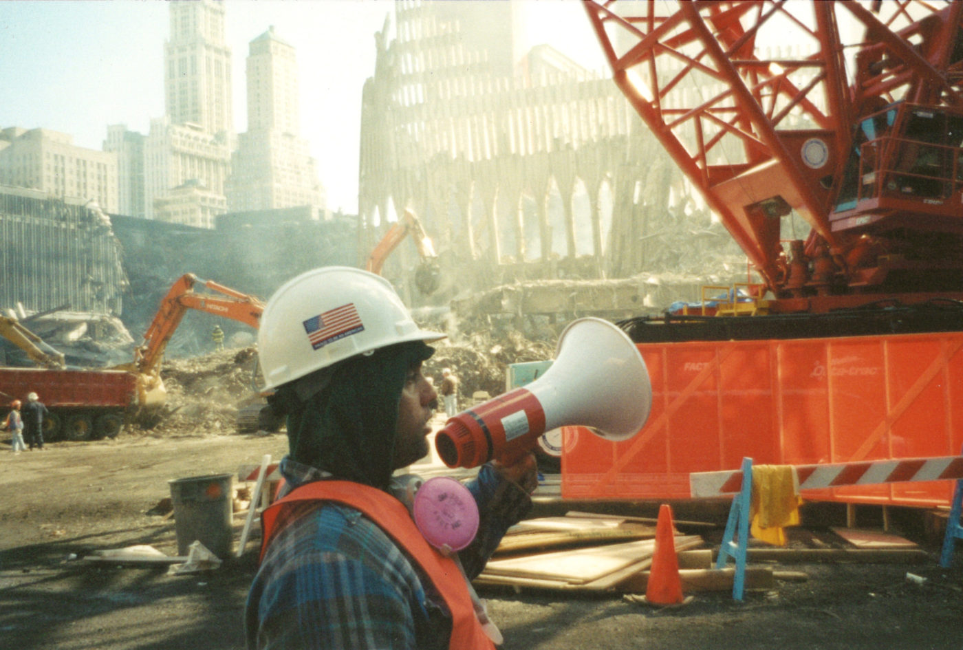 Unknown Worker with a Bullhorn at Ground Zero