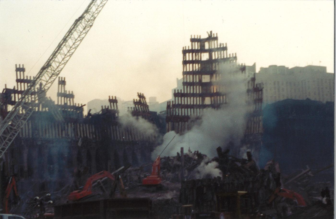 Unstable Exoskeleton and Smoke at Ground Zero